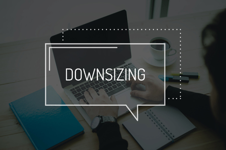 COMMUNICATION WORKING TECHNOLOGY BUSINESS DOWNSIZING CONCEPT Stock Photo