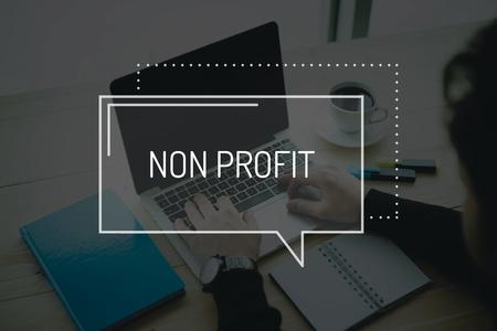 non profit: COMMUNICATION WORKING TECHNOLOGY BUSINESS NON PROFIT CONCEPT