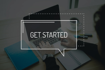 initiate: COMMUNICATION WORKING TECHNOLOGY BUSINESS GET STARTED CONCEPT