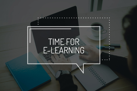 instances: COMMUNICATION WORKING TECHNOLOGY BUSINESS TIME FOR E-LEARNING CONCEPT