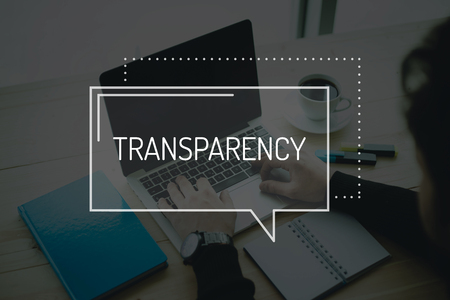 uncover: COMMUNICATION WORKING TECHNOLOGY BUSINESS TRANSPARENCY CONCEPT Stock Photo