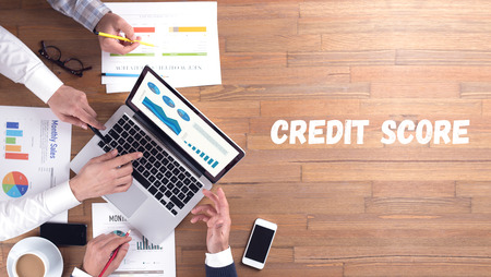 borrowing: CREDIT SCORE CONCEPT Stock Photo