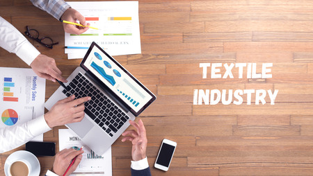 textile industry: TEXTILE INDUSTRY CONCEPT Stock Photo