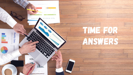 answers concept: TIME FOR ANSWERS CONCEPT
