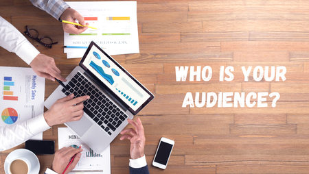 WHO IS YOUR AUDIENCE? CONCEPT Stok Fotoğraf - 68674207