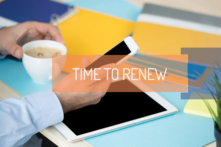 refilling: TIME TO RENEW CONCEPT Stock Photo