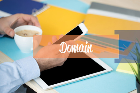 domain: DOMAIN CONCEPT Stock Photo