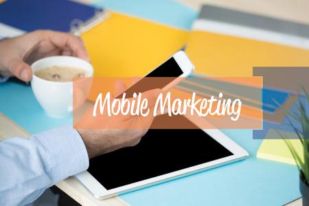 mobile marketing: MOBILE MARKETING CONCEPT Stock Photo