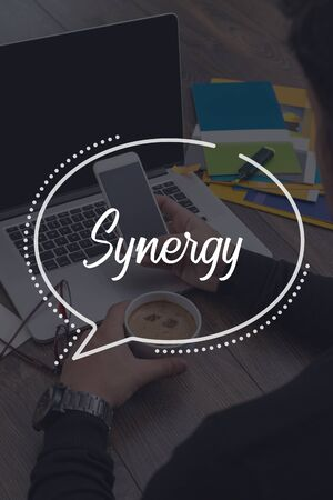 sinergia: BUSINESS COMMUNICATION WORKING TECHNOLOGY SYNERGY CONCEPT