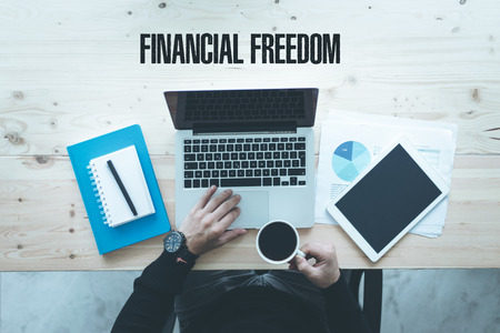 freedom: COMMUNICATION TECHNOLOGY BUSINESS AND FINANCIAL FREEDOM CONCEPT Stock Photo