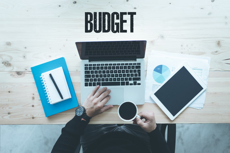 deficit target: COMMUNICATION TECHNOLOGY BUSINESS AND BUDGET CONCEPT