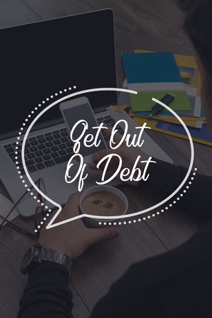 trouble free: BUSINESS COMMUNICATION WORKING TECHNOLOGY GET OUT OF DEBT CONCEPT