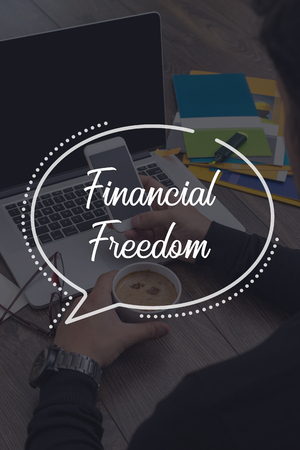 conservative: BUSINESS COMMUNICATION WORKING TECHNOLOGY FINANCIAL FREEDOM CONCEPT Stock Photo