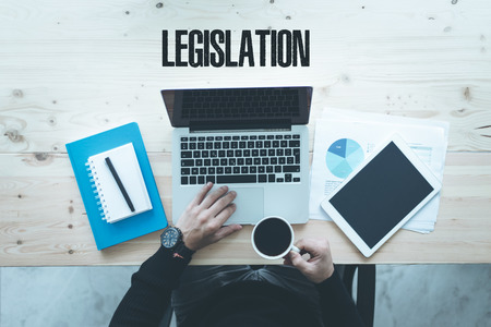 legislation: COMMUNICATION TECHNOLOGY BUSINESS AND LEGISLATION CONCEPT