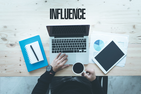 COMMUNICATION TECHNOLOGY BUSINESS AND INFLUENCE CONCEPT Stock Photo