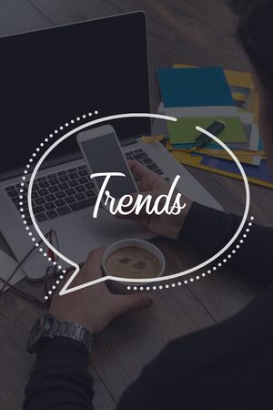 technology trends: BUSINESS COMMUNICATION WORKING TECHNOLOGY TRENDS CONCEPT