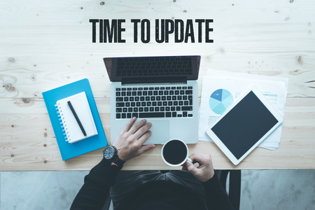 COMMUNICATION TECHNOLOGY BUSINESS AND TIME TO UPDATE CONCEPT 版權商用圖片
