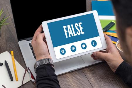 false: SHOWING FALSE SCREEN Stock Photo