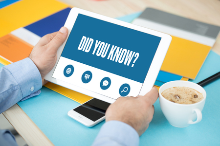 did: DID YOU KNOW SCREEN CONCEPT Stock Photo