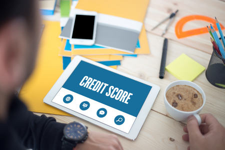 borrowing: CREDIT SCORE SCREEN CONCEPT