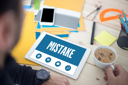 mistake: MISTAKE SCREEN CONCEPT Stock Photo
