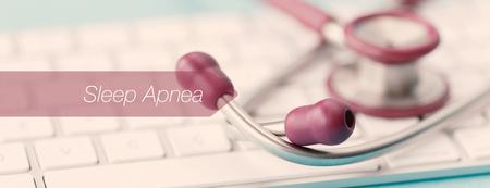 apnea: E-HEALTH AND MEDICAL CONCEPT: SLEEP APNEA Stock Photo