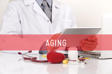 aging: HEALTHCARE AND MEDICAL CONCEPT: AGING Stock Photo