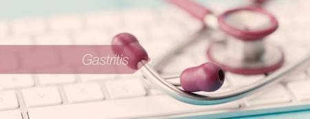 gastritis: E-HEALTH AND MEDICAL CONCEPT: GASTRITIS