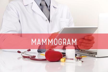 mammogram: HEALTHCARE AND MEDICAL CONCEPT: MAMMOGRAM