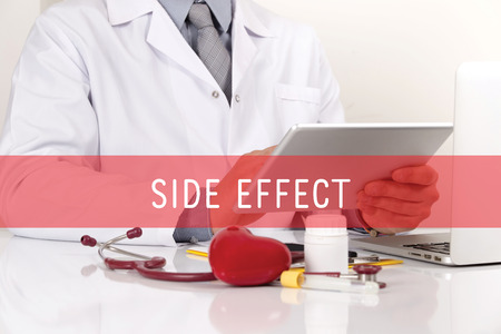 adverse reaction: HEALTHCARE AND MEDICAL CONCEPT: SIDE EFFECT Stock Photo