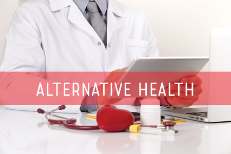 alternative health: HEALTHCARE AND MEDICAL CONCEPT: ALTERNATIVE HEALTH Stock Photo