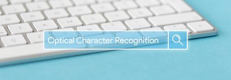 TECHNOLOGY AND INTERNET CONCEPT: SEARCHING OPTICAL CHARACTER RECOGNITION ON WEB Stock Photo