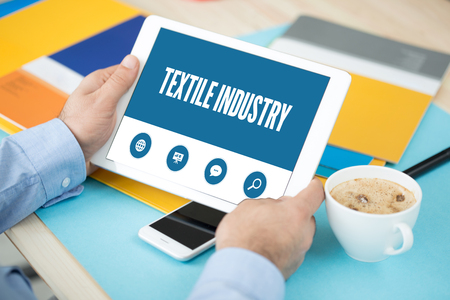 industria textil: TEXTILE INDUSTRY SCREEN CONCEPT Foto de archivo