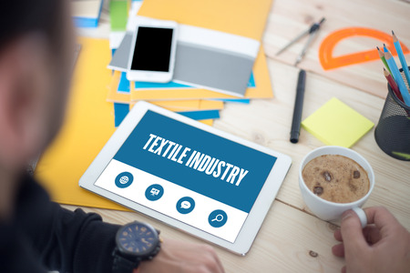 textile industry: TEXTILE INDUSTRY SCREEN CONCEPT Stock Photo