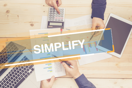 pragmatic: BUSINESS TEAM WORKING OFFICE SIMPLIFY CONCEPT Stock Photo