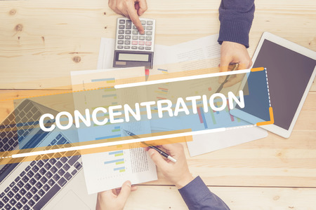 concentration: BUSINESS TEAM WORKING OFFICE CONCENTRATION CONCEPT
