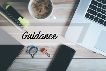 guidance: GUIDANCE CONCEPT Stock Photo