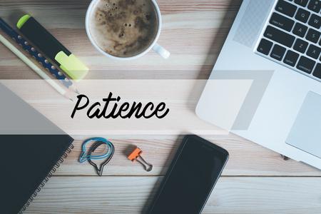 paciencia: Concepto de la paciencia Foto de archivo