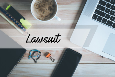 data protection act: LAWSUIT CONCEPT