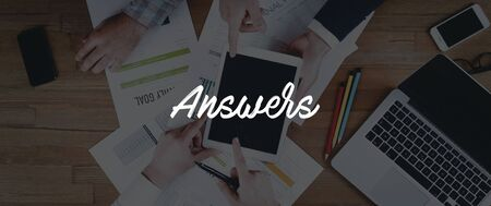 answers concept: TECHNOLOGY INTERNET TEAMWORK ANSWERS CONCEPT