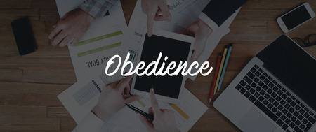 obedience: TECHNOLOGY INTERNET TEAMWORK OBEDIENCE CONCEPT
