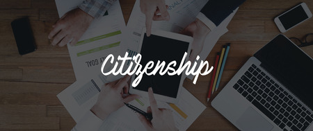 citizenship: TECHNOLOGY INTERNET TEAMWORK CITIZENSHIP CONCEPT