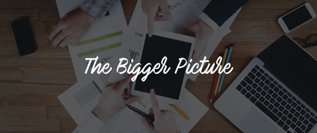 the bigger picture: TECHNOLOGY INTERNET TEAMWORK THE BIGGER PICTURE CONCEPT Stock Photo