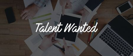 human potential: TECHNOLOGY INTERNET TEAMWORK TALENT WANTED CONCEPT Stock Photo
