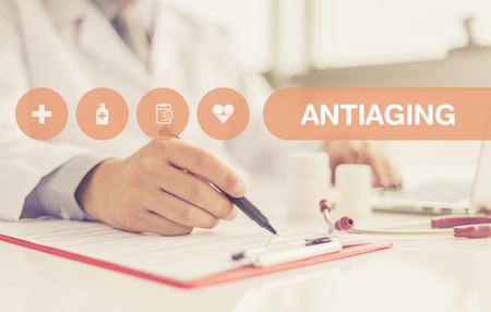 antiaging: HEALTH CONCEPT: ANTIAGING Stock Photo