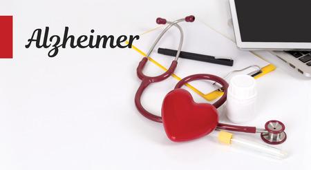 HEALTH CONCEPT: ALZHEIMER Stock Photo