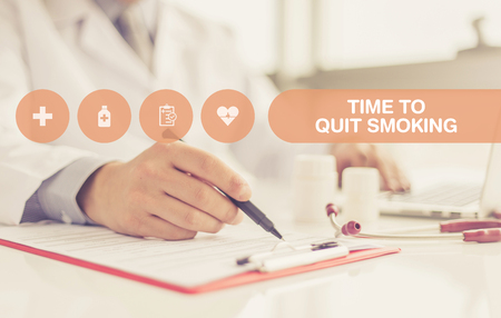 conclude: HEALTH CONCEPT: TIME TO QUIT SMOKING