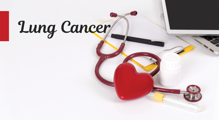 HEALTH CONCEPT: LUNG CANCER Stock Photo