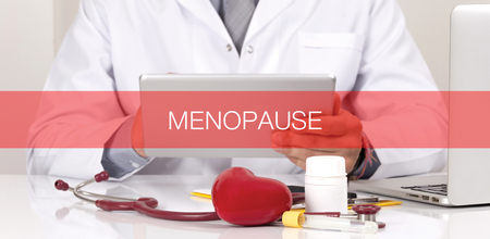 hormonal: HEALTH CONCEPT: MENOPAUSE Stock Photo