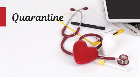 HEALTH CONCEPT: QUARANTINE Stock Photo